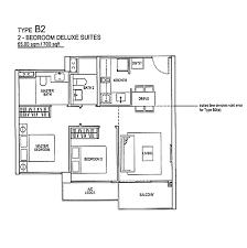 rivertrees residences floor plan b2 700sqft 2 bedroom deluxe suites