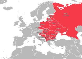 Map Of Ussr Map Of Eastern Europe