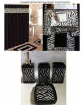 Bathroom Sets With Shower Curtain And Rugs And Accessories Holiday Special 22 Piece Bath Accessory Set Chocolate Brown