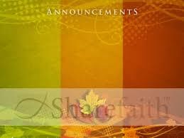 thanksgiving colors announceement background church announcements