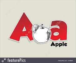 illustration of fruits and vegetables alphabet letter a