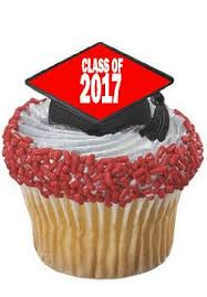 graduation cake toppers of 2017 graduation cupcake topper rings 24 pc
