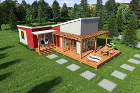 contemporary steel frame 2br 1ba 870 sq ft complete modular home