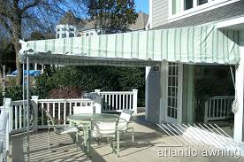 pull out awnings for decks stationary free standing patio deck