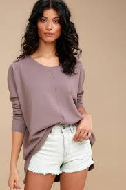 purple sweater dusty purple sweater top oversized sweater top