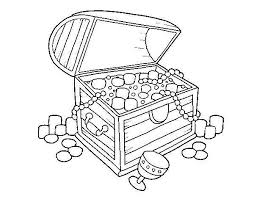 treasure chest coloring pages getcoloringpages