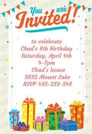 birthday invitation example gallery invitation design ideas