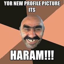 yor new profile picture its haram create meme
