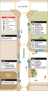 Seattle Metro Bus Routes Map by Redmond Transit Center King County