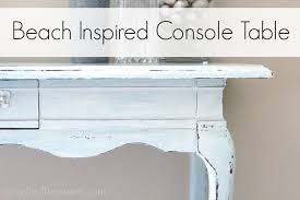 Upcycled Console Table Beach Inspired Console Table Jpg
