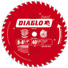 Best Blade For Laminate Flooring Diablo 8 1 4 In X 40 Tooth Finish Saw Blade D0840x The Home Depot