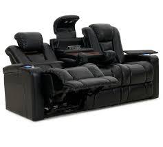 Buy Recliner Sofa Octane Mega Multi Function Reclining Sofa In Black Bonded Leather