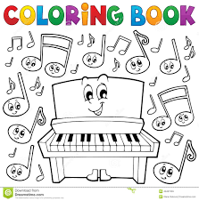coloring book music theme image 1 stock vector image 49457559