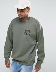 fish sweater honour hnr ldn oversized fish back print sweater