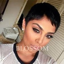 how much is average price for hair cut and color human real hair pixie cut bob wigs with bangs layered short