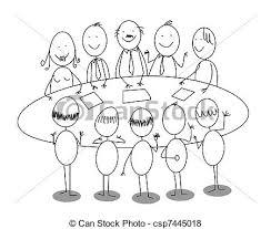 dessin de bureau vecteur réunion dessin animé bureau vecteur search clip