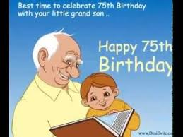 75th birthday e card youtube