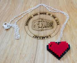 chain necklace heart images Eight bit heart charm on 18 silver chain necklace by c4labs jpg