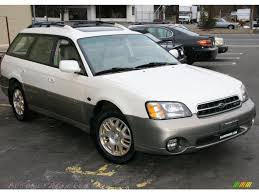 white subaru wagon 2002 subaru outback 3 0 l l bean edition wagon in white frost
