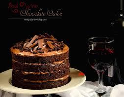wine chocolate luxurious chocolate cake with wine and ganache