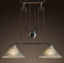 industrial pulley pendant light the industrial pulley double pendant
