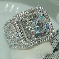 crystal diamond rings images 2018 new wedding rings silver plated crystal engagement rings jpg