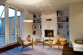 contemporary and elegant design rooftop apartment reading room