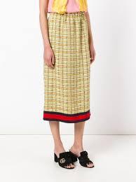tweed skirt gucci gg web midi tweed skirt 1 390 buy ss17 online fast