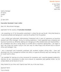 cover letters for executive assistants amitdhull co