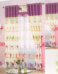 Cheap Cute Curtains Poly Cotton Fabric Beautiful Window Curtains