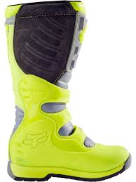 mens motocross boots fox yellow grey 2017 comp 5 mx boot fox freestylextreme