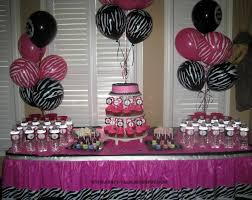 pink and black birthday party decorations home design ideas party tales birthday party zebra print and hot pink diva spa party