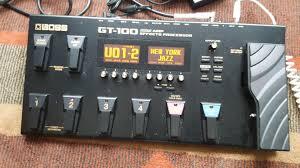 gt 100 boss gt 100 audiofanzine