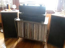 vinyl storage idea with amp and record player and need cd player
