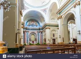 interior saint maria church in small spanish village xalo