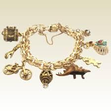 charm bracelet gold vintage images Vintage 1940 39 s 1950 39 s 12kt gold filled winard charm bracelet jpg