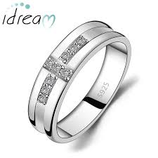 wedding rings cross images Cubic zirconia diamond accents cross wedding band for men jpg