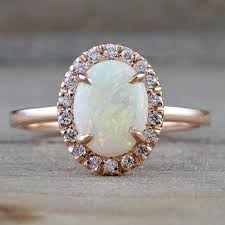 real diamond engagement rings 25 opal engagement rings for the modern to be brides