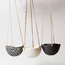 Modern Hanging Planter by Ceramic Hanging Planter White Ceramic Planterindoor Plant Pot