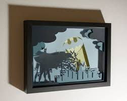 Home Decor Unique by Batman Framed Hand Paper Cut Special Wall Decor Unique Gift