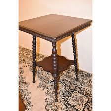 antique spindle leg side table antique turned spindle leg side table chairish