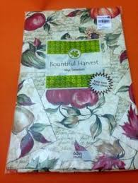 autumn fall words and sayings vinyl tablecloth flannel backing