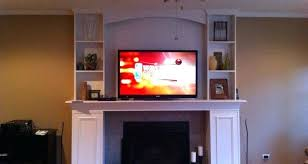 where to put tv tv above fireplace where to put components photopoll