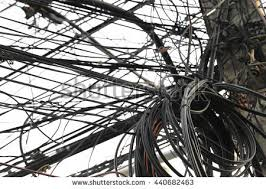 Messy Wires Jumbled Wires Stock Images Royalty Free Images U0026 Vectors