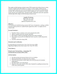 nursing assistant resume objective for nursing assistant resume