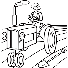 tractor trailer coloring pages tractor coloring pages with farmer coloringstar