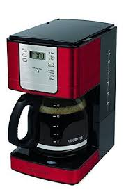 Advanced Brew 12 Cup Programmable Coffee Maker Red up to fresh