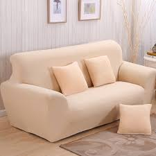 All Leather Sofa Solid Universal Sofa Covers Beige All Inclusive Sofa Dust Cover