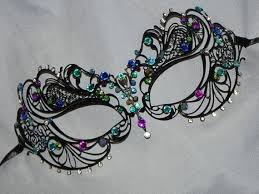 metal masquerade mask masquerade mask metal mask in turquoise blue and purple