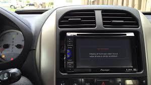 pioneer avh 200bt dvd receiver installation toyota rav4